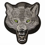 Wolf Embroidered Iron-On Applique Patch by PC, TR-11280